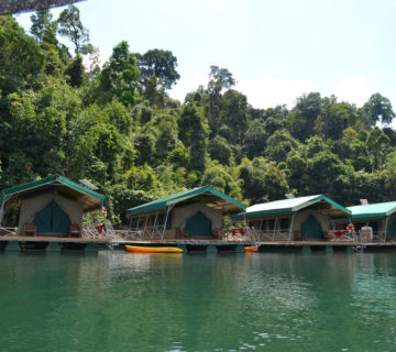 แพ Elephant Hills Rainforest Lake Camp